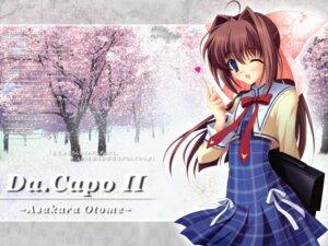 Rating: Safe Score: 5 Tags: asakura_otome da_capo da_capo_(series) da_capo_ii kayura_yuka seifuku wallpaper User: blues