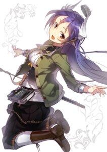 Rating: Safe Score: 40 Tags: hitoshi_(pixiv3340857) horns sword User: KazukiNanako
