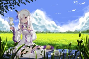 Rating: Safe Score: 57 Tags: cha_bing cleavage emilia_(re_zero) neko pack_(re_zero) pointy_ears re_zero_kara_hajimeru_isekai_seikatsu thighhighs User: RyuZU