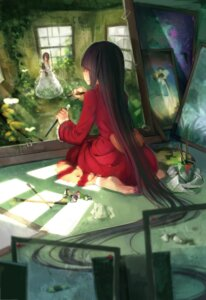 Rating: Safe Score: 46 Tags: black_flame dress feet houraisan_kaguya touhou User: Mr_GT