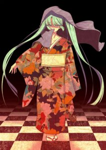 Rating: Safe Score: 16 Tags: furai hatsune_miku kimono vocaloid User: charunetra