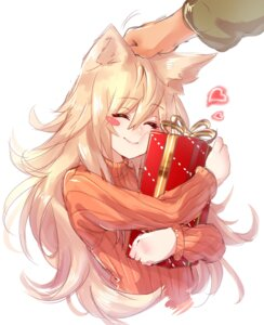 Rating: Safe Score: 33 Tags: animal_ears christmas dio_uryyy sweater User: Mr_GT