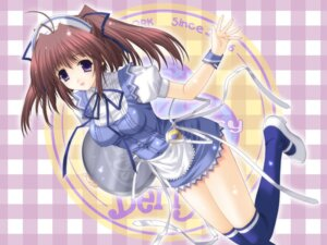 Rating: Safe Score: 17 Tags: berry's izuno_youko kimizuka_aoi thighhighs waitress wallpaper User: admin2