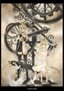 Rating: Safe Score: 9 Tags: kagamine_rin l.leaf meltdown_(vocaloid) thighhighs vocaloid User: fireattack