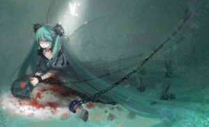 Rating: Safe Score: 12 Tags: dress eyepatch hatsune_miku shell vocaloid User: yumichi-sama