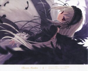 Rating: Safe Score: 25 Tags: endcard gothic_lolita lolita_fashion paper_texture rozen_maiden suigintou sumaki_shungo wings User: Radioactive