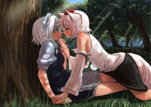 Rating: Safe Score: 40 Tags: animal_ears inubashiri_momiji izayoi_sakuya mibuki397 touhou yuri User: Mr_GT