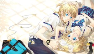 Rating: Safe Score: 14 Tags: cocoon_(loveririn) kagamine_len kagamine_rin vocaloid User: charunetra