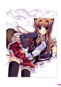Rating: Safe Score: 40 Tags: animal_ears cabbit chisha midori_no_umi seifuku tail thighhighs yukie User: Twinsenzw
