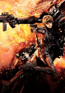 Rating: Safe Score: 11 Tags: appleseed bodysuit briareos_hecatonchires deunan_knute gun User: Radioactive