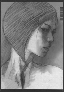 Rating: Questionable Score: 4 Tags: abe_yoshitoshi monochrome naked sketch User: Nei