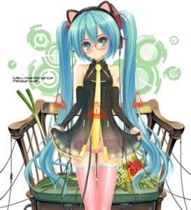 Rating: Safe Score: 18 Tags: animal_ears hatsune_miku kurononon megane nekomimi vocaloid User: oppai