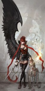 Rating: Safe Score: 52 Tags: blood shaonav stockings sword thighhighs wings User: blooregardo