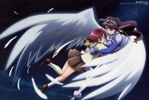 Rating: Safe Score: 10 Tags: fujii_tomoyuki mai_otome mai_otome_0_sifr rena_sayers sifr_fran wings User: vita