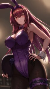 Rating: Safe Score: 67 Tags: animal_ears bunny_ears bunny_girl cleavage fate/grand_order fishnets garter maru_(maru1625) pantyhose scathach_(fate/grand_order) User: Mr_GT