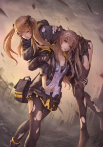 Rating: Safe Score: 30 Tags: bra girls_frontline jay_xu open_shirt pantyhose torn_clothes ump45_(girls_frontline) ump9_(girls_frontline) User: Mr_GT