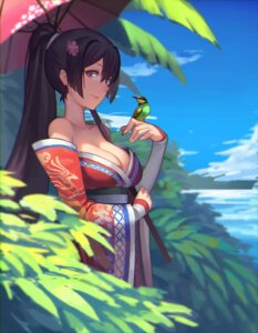 Rating: Safe Score: 76 Tags: cleavage doitsu_no_kagaku kantai_collection kimono umbrella yamato_(kancolle) User: nphuongsun93