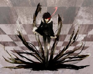Rating: Safe Score: 23 Tags: black_rock_shooter durarara!! male orihara_izaya parody vocaloid x666x User: yuyeliulian