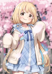Rating: Safe Score: 34 Tags: dress futaba_anzu haru_(renol) sweater the_idolm@ster the_idolm@ster_cinderella_girls User: sym455