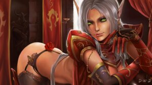 Rating: Questionable Score: 43 Tags: blood_elf cleavage dantewontdie elf garter_belt pantsu pointy_ears stockings thighhighs thong world_of_warcraft User: charunetra