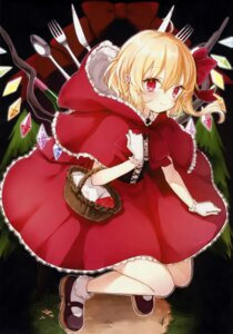 Rating: Safe Score: 36 Tags: cosplay flandre_scarlet honotai little_red_riding_hood_(character) pointy_ears ponopp skirt_lift touhou wings User: NotRadioactiveHonest