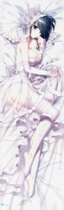 Rating: Questionable Score: 107 Tags: breasts dakimakura dress garter_belt higa_yukari kirishima_sakura nipples nopan sakura_sakura see_through stockings thighhighs wedding_dress User: JoeCresent