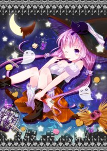 Rating: Safe Score: 17 Tags: bloomers halloween murasaki_(artist) neko witch User: 椎名深夏