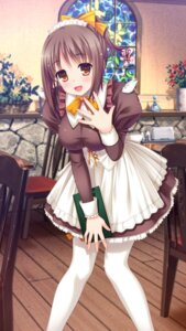 Rating: Safe Score: 35 Tags: jpeg_artifacts maid nekonyan pantyhose parfait_chocolate_second_brew waitress wallpaper yukino_asuka User: fireattack