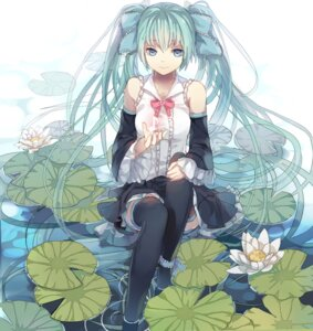 Rating: Safe Score: 50 Tags: fre hatsune_miku thighhighs vocaloid User: charunetra