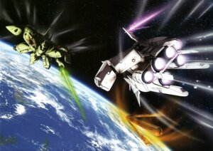 Rating: Safe Score: 5 Tags: gp03 gundam gundam_0083 landscape mecha sword User: drop