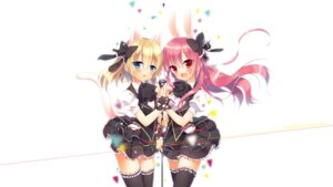 Rating: Safe Score: 48 Tags: animal_ears bunny_ears ichiri nekomimi seifuku tail thighhighs User: blooregardo