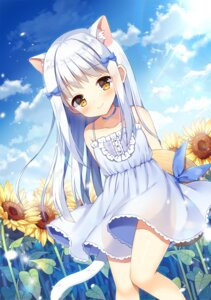 Rating: Safe Score: 27 Tags: animal_ears dress mauve nekomimi see_through skirt_lift summer_dress tail User: yanis