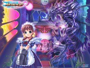 Rating: Safe Score: 4 Tags: arcana_heart armor dress fiona_mayfield maid mizuki_gyokuran monster wallpaper User: meemeeshion