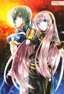 Rating: Questionable Score: 22 Tags: kannagi_itsuki kei megurine_luka sora_wo_kakeru_shoujo thighhighs vocaloid User: Share