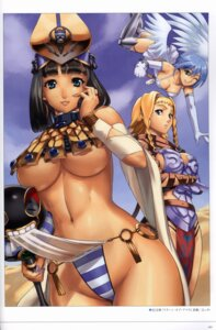 Rating: Questionable Score: 52 Tags: angel armor cleavage dress eiwa garter leina menace nanael pantsu queen's_blade see_through setra shimapan skirt_lift thighhighs underboob wings User: blooregardo