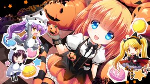 Rating: Safe Score: 35 Tags: chibi dress fishnets girlfriend_(kari) halloween heels himejima_kinoko lolita_fashion nanami_shiki s_nyaau see_through thighhighs tokitaki_koruri wallpaper weapon witch yuuki_nae User: Mr_GT