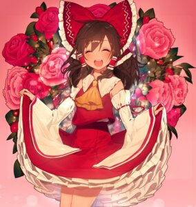 Rating: Safe Score: 50 Tags: hakurei_reimu misoni_comi skirt_lift touhou User: Mr_GT