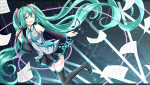 Rating: Safe Score: 27 Tags: hatsune_miku heels tattoo thighhighs vocaloid wallpaper yamagara User: Mr_GT