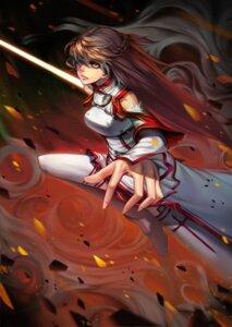 Rating: Safe Score: 22 Tags: asuna_(sword_art_online) kote_(tures) sword sword_art_online thighhighs User: Radioactive