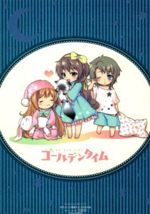 Rating: Safe Score: 10 Tags: chibi golden_time hayashida_nana kaga_kouko oka_chinami pajama ume_chazuke User: drop