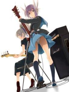 Rating: Questionable Score: 32 Tags: crossover darker_than_black guitar kabotya megane nagato_yuki pantsu shimapan suzumiya_haruhi_no_yuuutsu yin User: fireattack