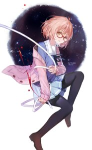 Rating: Safe Score: 38 Tags: blood cotta kuriyama_mirai kyoukai_no_kanata megane pantyhose seifuku User: Radioactive