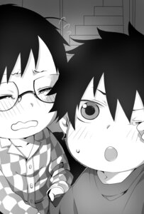 Rating: Safe Score: 4 Tags: ao_no_exorcist male megane monochrome okumura_rin okumura_yukio tayuya1130 User: charunetra