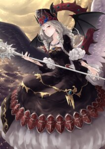 Rating: Safe Score: 35 Tags: chaos_goddess dress rr_(rr2) tail weapon wings yugioh User: Mr_GT