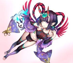 Rating: Safe Score: 43 Tags: fate/grand_order fundoshi horns kaguyuzu pointy_ears shuten_douji_(fate/grand_order) thighhighs User: Mr_GT