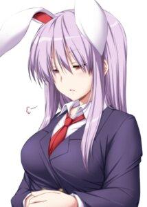 Rating: Safe Score: 22 Tags: animal_ears bunny_ears nori_tamago reisen_udongein_inaba seifuku touhou User: RyuZU