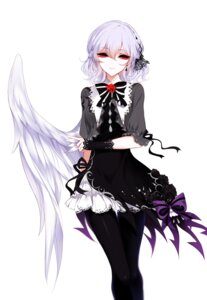 Rating: Safe Score: 38 Tags: dress kishin_sagume pantyhose sheya touhou wings User: charunetra