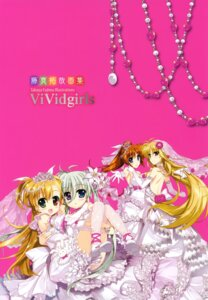Rating: Safe Score: 17 Tags: dress einhart_stratos fate_testarossa fujima_takuya heterochromia mahou_shoujo_lyrical_nanoha mahou_shoujo_lyrical_nanoha_vivid takamachi_nanoha thighhighs vivio wedding_dress User: crim
