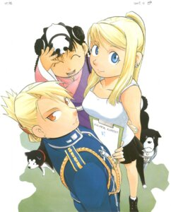 Rating: Safe Score: 6 Tags: arakawa_hiromu black_hayate den_(fma) fullmetal_alchemist may_chang riza_hawkeye shao_may winry_rockbell User: lifewithmegaman