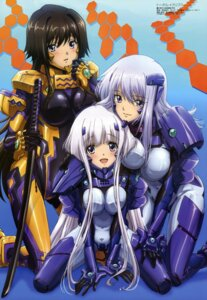 Rating: Safe Score: 61 Tags: bodysuit cryska_barchenowa hara_yumiko inia_sestina muvluv muvluv_alternative sword takamura_yui total_eclipse User: Ravenblitz